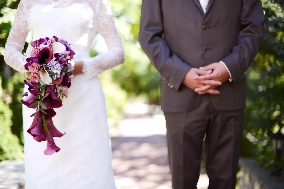 Középpontban az esküvői csokor