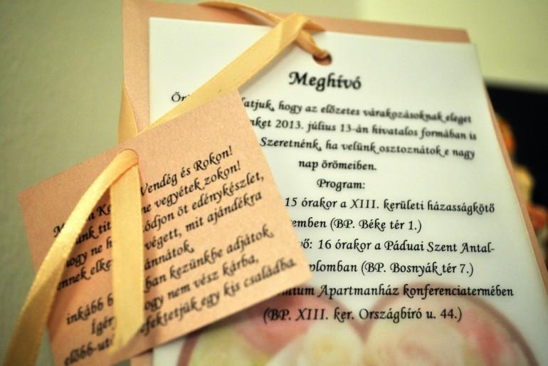 Esküvői meghívó egyedi tervezéssel