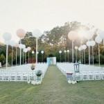 Léggömb dekoráció esküvőre