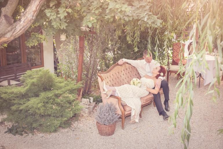 Vintage esküvő a szabadban