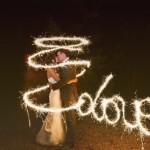 Esküvői fotó csillagszóróval