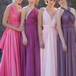 Koszorúslányok más-más színben - Esküvő Vintage