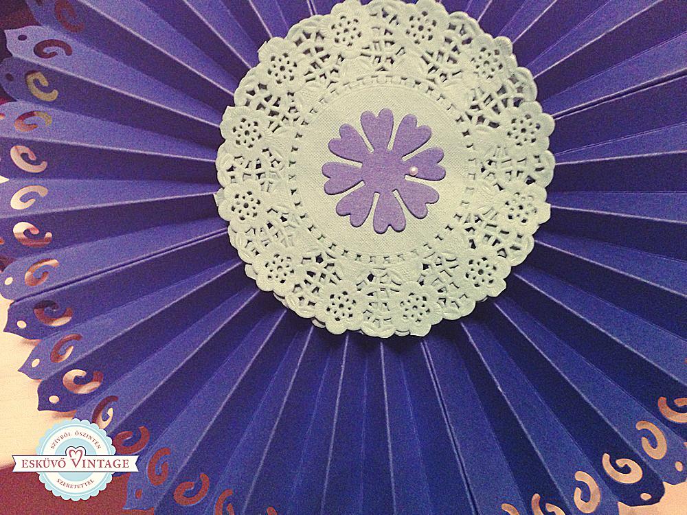 Rozetta dekoráció - Esküvő Vintage
