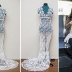 Buszon készült menyasszonyi ruha