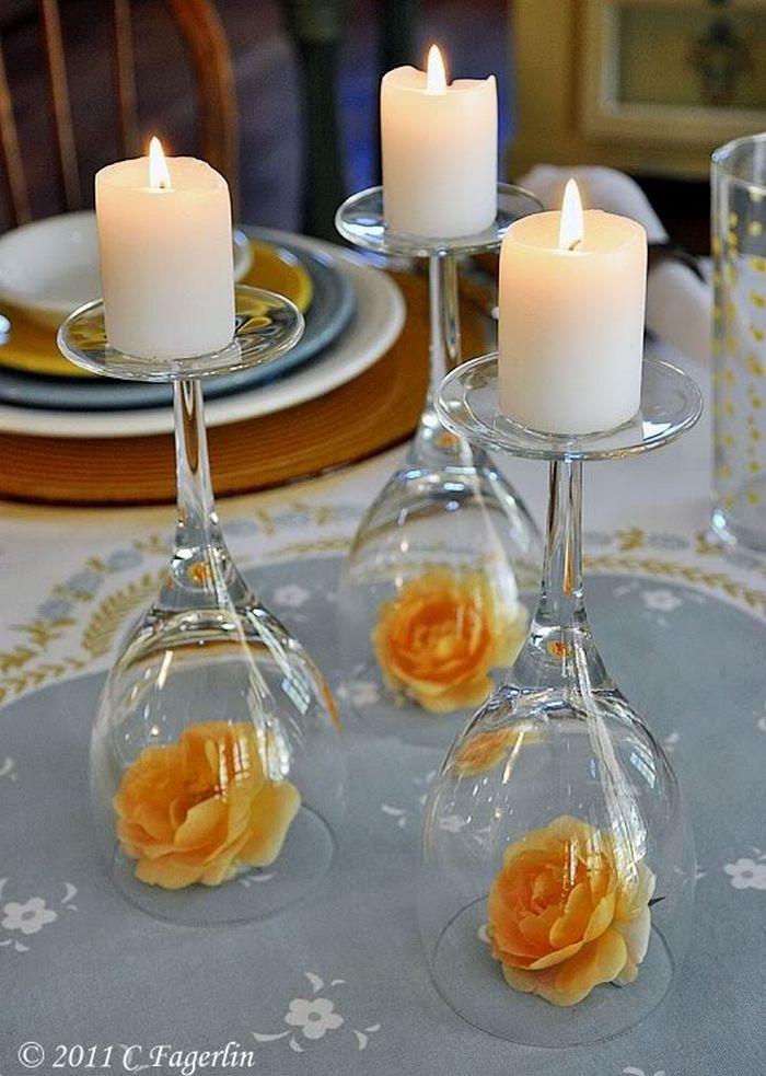 Alternatív esküvői asztaldekor