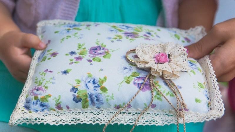 gyűrűpárna - esküvő vintage