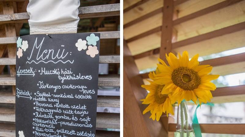 esküvői menü DIY - esküvő vintage