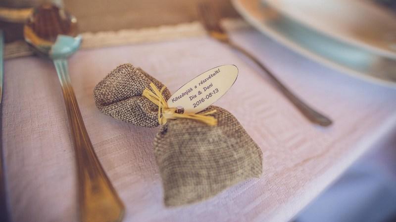 köszönőajándék - esküvő vintage